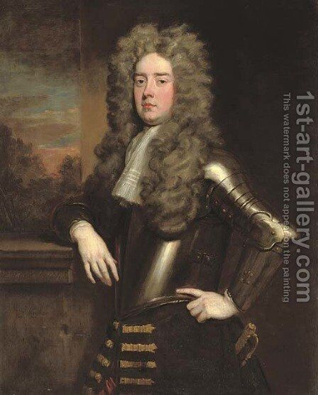 Portrait of Edward Henry Lee, 1st Earl of Lichfield (1663-1716) by Sir Godfrey Kneller - Reproduction Oil Painting