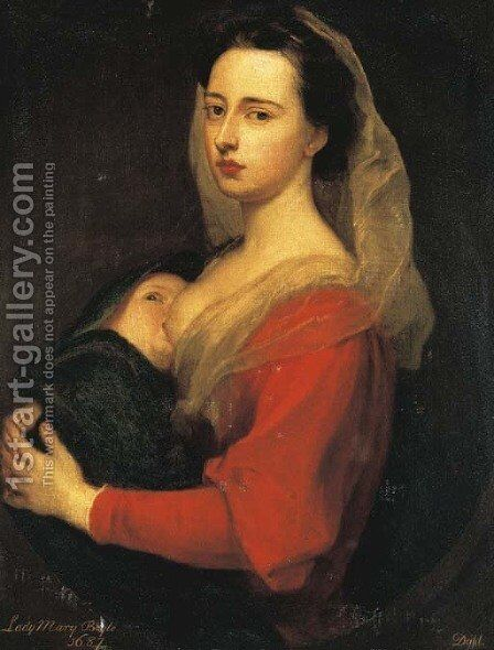 Portrait of Lady Mary Boyle by Sir Godfrey Kneller - Reproduction Oil Painting