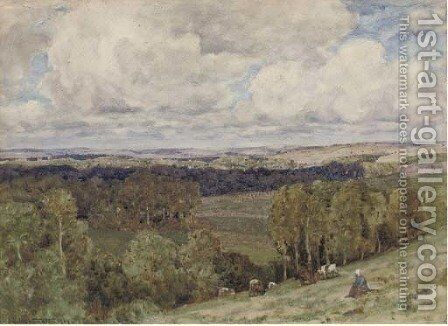 The valley, Montreuil by Herbert Hughes Stanton - Reproduction Oil Painting