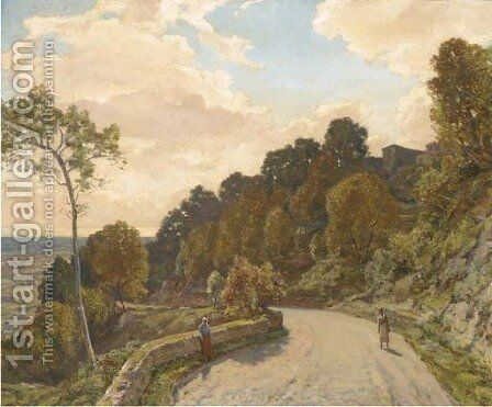 Road up to Cagnes by Herbert Hughes Stanton - Reproduction Oil Painting