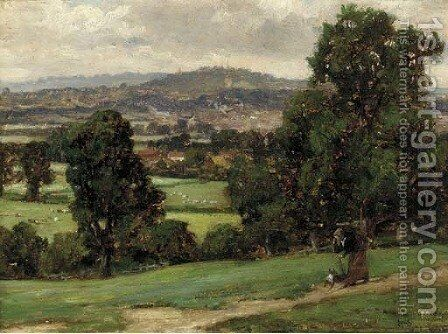 Harrow on the Hill by Herbert Hughes Stanton - Reproduction Oil Painting