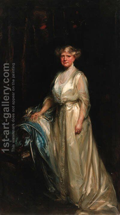 Portrait of a lady 2 by James Jebusa Shannon - Reproduction Oil Painting