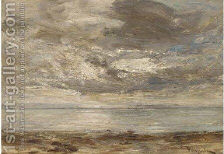 Pale sunset, Machrie by James Lawton Wingate - Reproduction Oil Painting