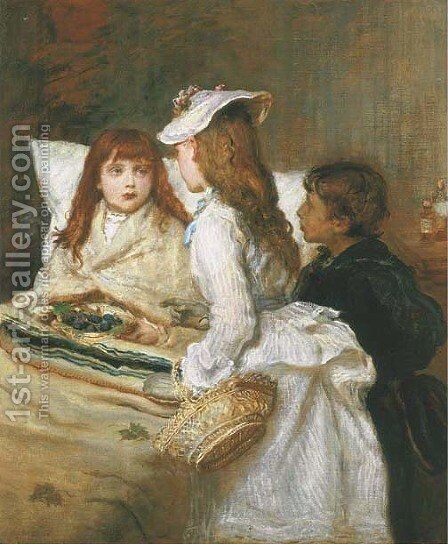 Getting Better by Sir John Everett Millais - Reproduction Oil Painting