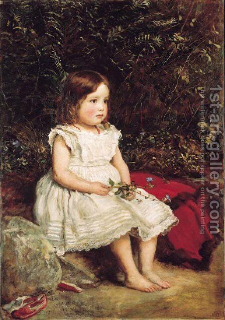 Portrait of Eveline Lees as a child by Sir John Everett Millais - Reproduction Oil Painting
