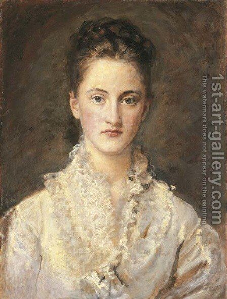 Portrait of the Artist's Daughter, Mary by Sir John Everett Millais - Reproduction Oil Painting