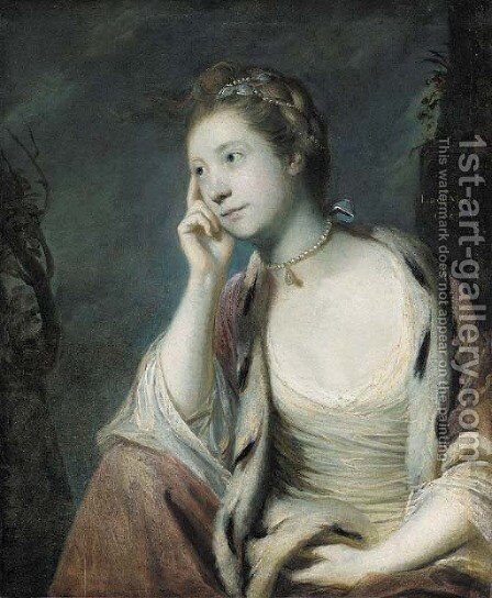 Portrait of Lady Mary Coke (1726-1811) by Sir Joshua Reynolds - Reproduction Oil Painting