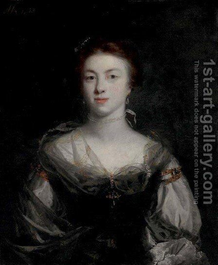 Portrait of a lady 2 by Sir Joshua Reynolds - Reproduction Oil Painting