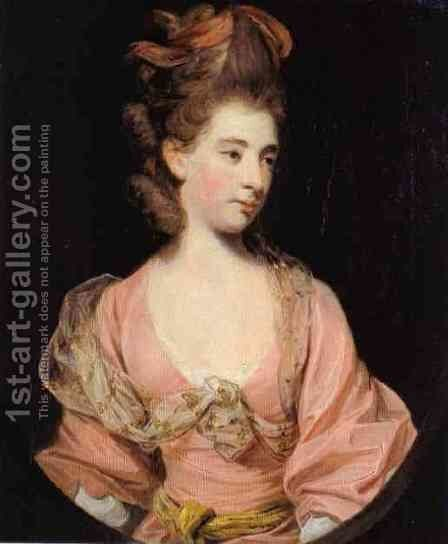 Portrait of a lady, traditionally identified as Mrs. Elizabeth Sheridan (1754-1792) by Sir Joshua Reynolds - Reproduction Oil Painting
