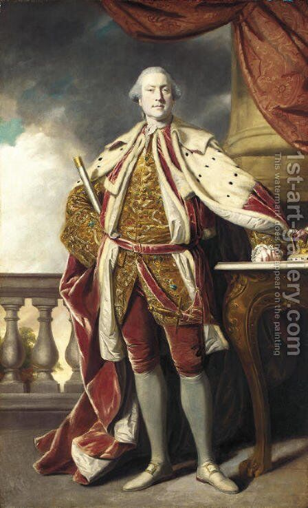 Portrait of James Hay (1726-1778), 15th Earl of Erroll by Sir Joshua Reynolds - Reproduction Oil Painting