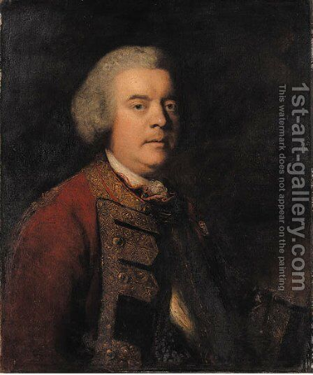 Portrait of Lieutenant-General William Kingsley (c.1698-1769) by Sir Joshua Reynolds - Reproduction Oil Painting