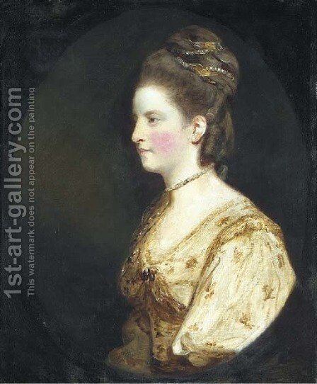 Portrait of Mrs Thomas Wodehouse by Sir Joshua Reynolds - Reproduction Oil Painting