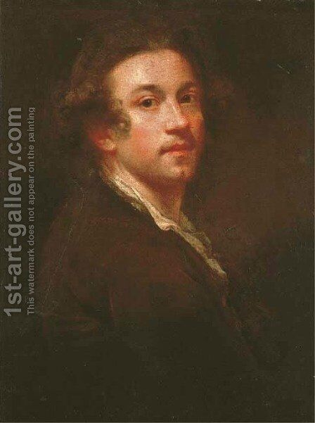 Self-portrait of the artis by Sir Joshua Reynolds - Reproduction Oil Painting