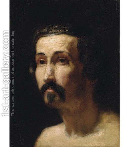Portrait of a gentleman, bust-length 2 by Sir Lawrence Alma-Tadema - Reproduction Oil Painting