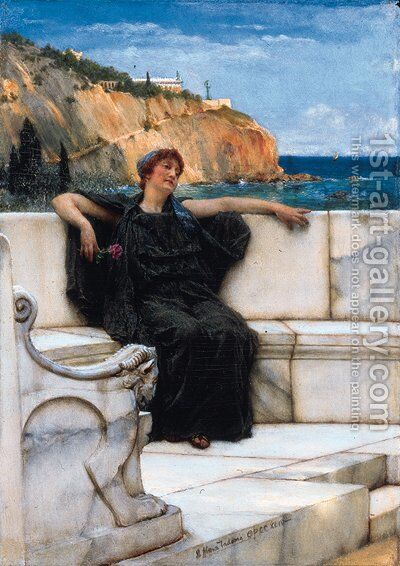 Farniente by Sir Lawrence Alma-Tadema - Reproduction Oil Painting