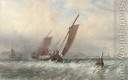 Heading out to the fishing grounds by Sir Oswald Walter Brierly - Reproduction Oil Painting