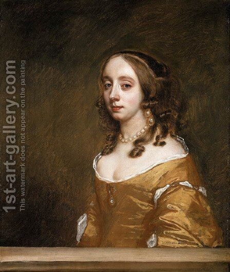 Portrait of a Lady of the Popham Family by Sir Peter Lely - Reproduction Oil Painting