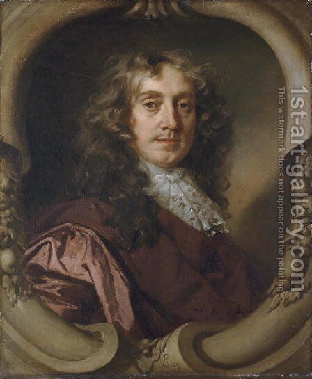 Portrait of a gentleman 2 by Sir Peter Lely - Reproduction Oil Painting