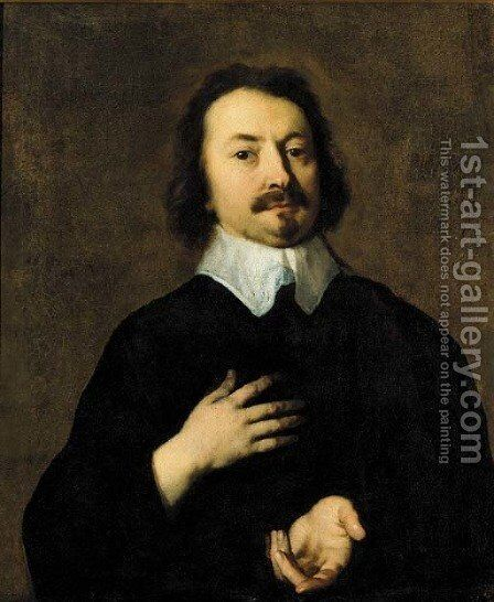 Portrait of a gentleman, said to be Evangelista Torricelli (1608-1647) by Sir Peter Lely - Reproduction Oil Painting