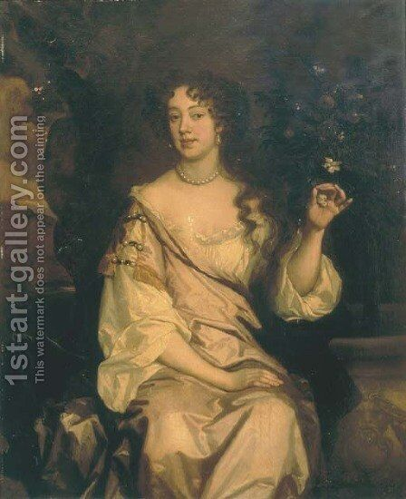 Portrait of Anne Capel by Sir Peter Lely - Reproduction Oil Painting
