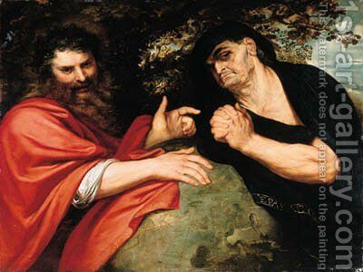 Democritus and Heraclitus by Rubens - Reproduction Oil Painting
