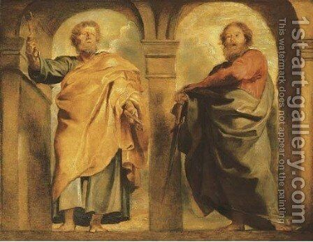 Saint Peter and Saint Paul a modello by Rubens - Reproduction Oil Painting
