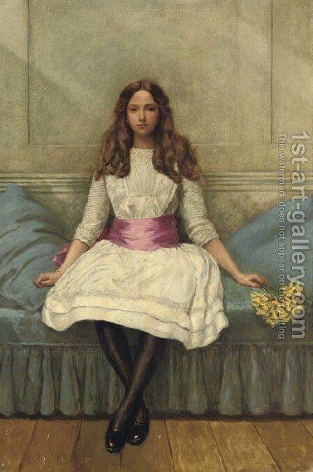 Portrait of Irene Spencer by Sir Philip Burne-Jones - Reproduction Oil Painting