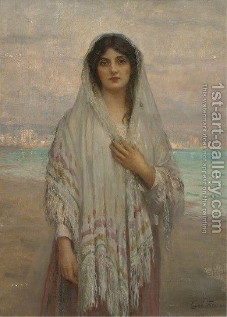 A Chioggian girl by Sir Samuel Luke Fildes - Reproduction Oil Painting