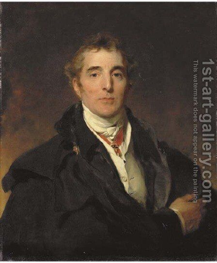 Portrait of Arthur Wellesley, 1st Duke of Wellington, K.G., K.B., M.P. (1769-1852) by Sir Thomas Lawrence - Reproduction Oil Painting
