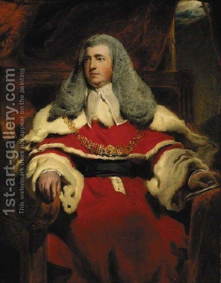 Portrait of Edward Law, 1st Baron Ellenborough, M.P., Lord Chief Justice of England (1750-1818) by Sir Thomas Lawrence - Reproduction Oil Painting