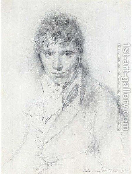 Portrait of Richard Westall, R.A. (1765-1836) by Sir Thomas Lawrence - Reproduction Oil Painting