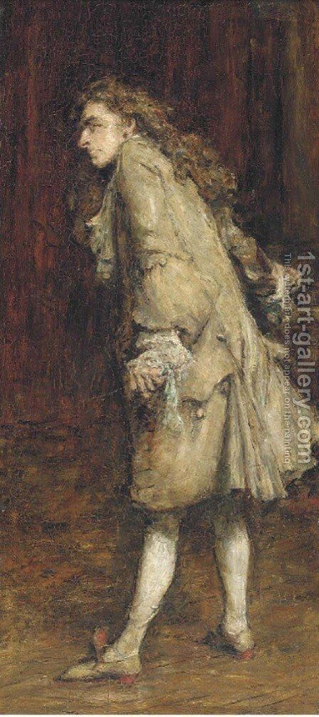 Voltaire by Sir William Quiller-Orchardson - Reproduction Oil Painting
