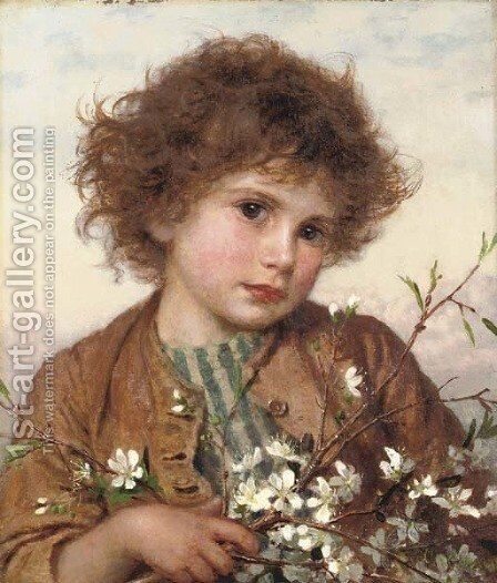 Spring blossom by Sophie Gengembre Anderson - Reproduction Oil Painting