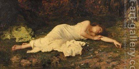 Sweet dreams by Sophie Gengembre Anderson - Reproduction Oil Painting