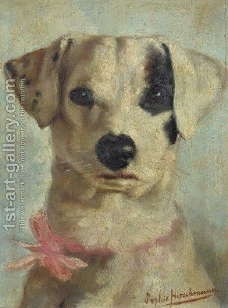 A Jackrussel by Sophie Hirschmann - Reproduction Oil Painting
