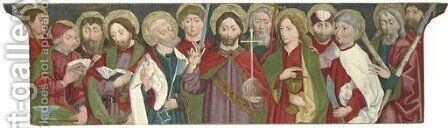 Christ amongst the Apostles by South German School - Reproduction Oil Painting