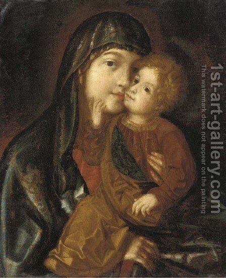 The Virgin and Child 2 by South German School - Reproduction Oil Painting
