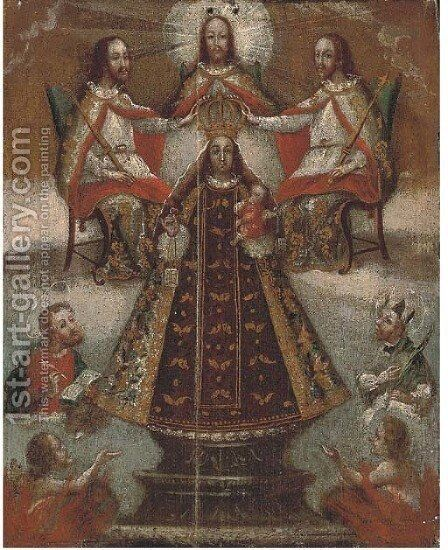 Science Fiction & Horror Good Religious Painting Hispanic Colonial Replica