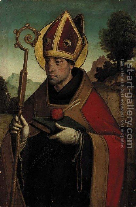 Saint Augustine by Spanish School - Reproduction Oil Painting