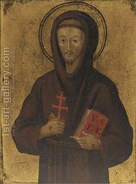 Saint Francis of Assisi by Spanish School - Reproduction Oil Painting