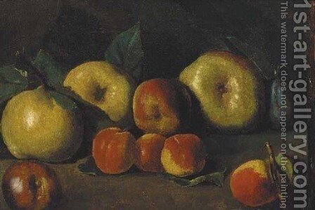 Apples, peaches by Spanish School - Reproduction Oil Painting