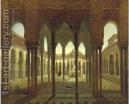 The Alhambra palace, Grenada 2 by Spanish School - Reproduction Oil Painting