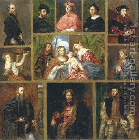 An imaginary gallery of paintings in the Prado, Madrid by Spanish School - Reproduction Oil Painting