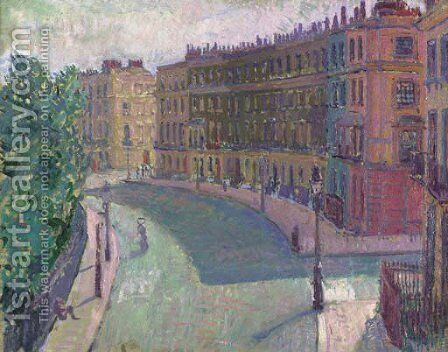 Mornington Crescent by Spencer Frederick Gore - Reproduction Oil Painting