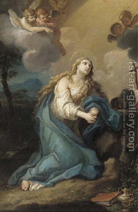 The penitent Magdalen by Stefano Pozzi - Reproduction Oil Painting