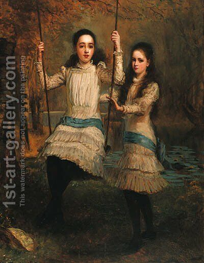 The Cameron Sisters by Stephen Catterson Smith - Reproduction Oil Painting