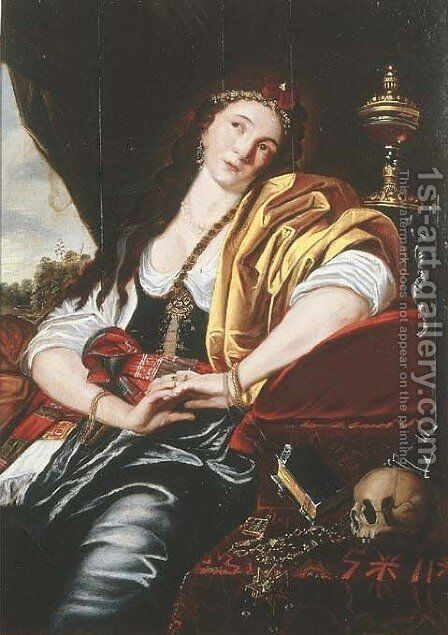 The Penitent Magdalen by (after) Abraham Janssens Van Nuyssen I - Reproduction Oil Painting