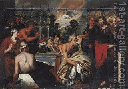 The Pool of Bethesda by (after) Artus Wollfort - Reproduction Oil Painting