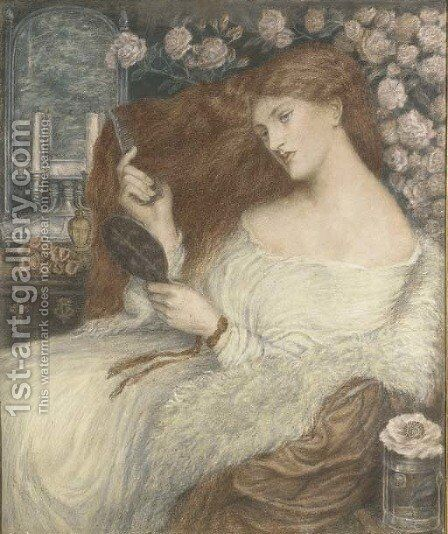 Lady Lilith by (after) Rossetti, Dante Gabriel - Reproduction Oil Painting