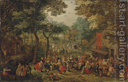 A village kermesse on St. George's Day by (after) David Vinckboons - Reproduction Oil Painting